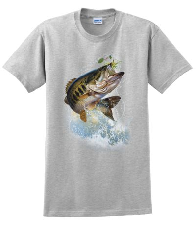 Fish and hook largemouth bass t shirt for Bass fishing hoodies