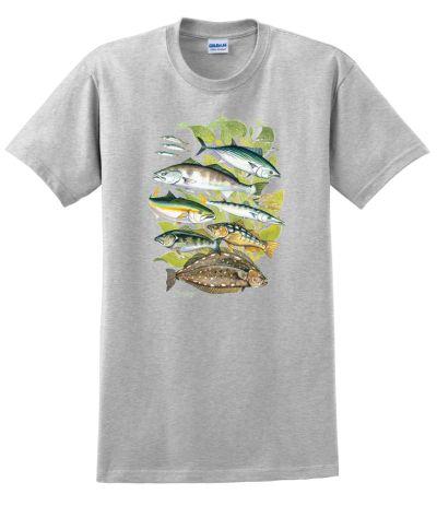 Phantoms saltwater fish t shirt for Saltwater fishing clothes