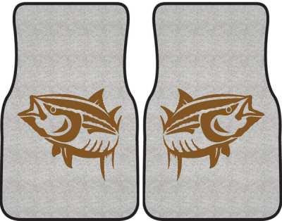 Yellowfin Tuna Silhouette Car Mats