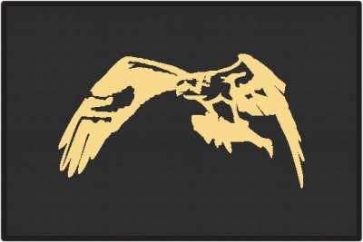 Sea Hawk Eagle Silhouette Door Mats