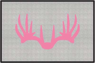Nice Rack 6 Deer Silhouette Door Mats