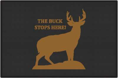 The Buck Stops Here Deer Silhouette Door Mats