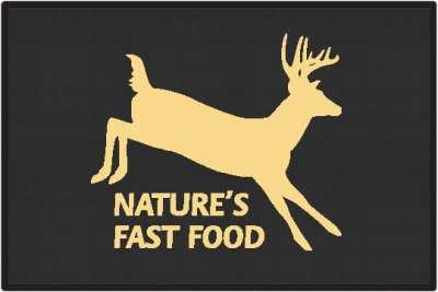 Nature S Fast Food 2 Whitetail Deer Silhouette Door Mats