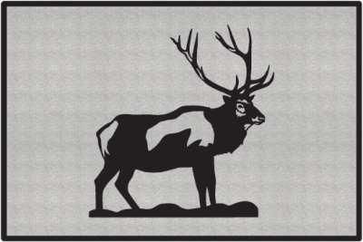 Bull Elk Silhouette Door Mats