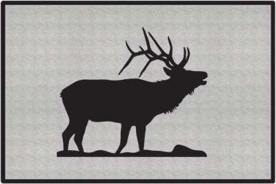 Bugling Elk Silhouette Door Mats