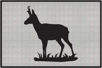Pronghorn Antelope Silhouette Door Mats