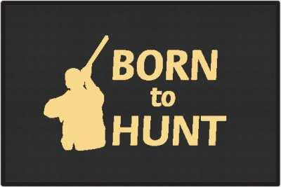 Born To Hunt Shotgun Silhouette Door Mats
