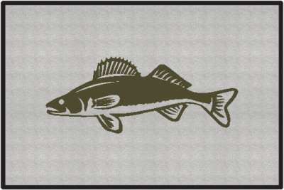 Walleye Silhouette Door Mats