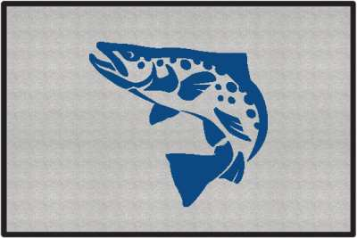 Brown Trout Silhouette Door Mats