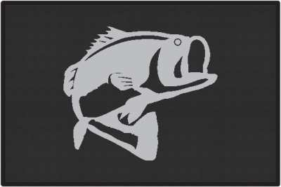 Bass Jumping Silhouette Door Mats