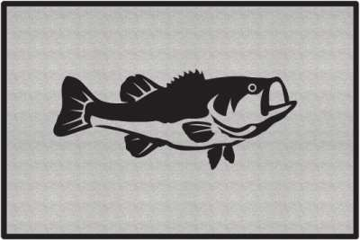 Bass Silhouette Door Mats