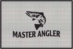 Master Angler Trout Silhouette Door Mats
