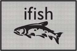 ifish Trout 2 Silhouette Door Mats