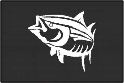 Yellowfin Tuna Silhouette Door Mats