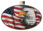 Patriotic Eagle Oval Cribbage Board