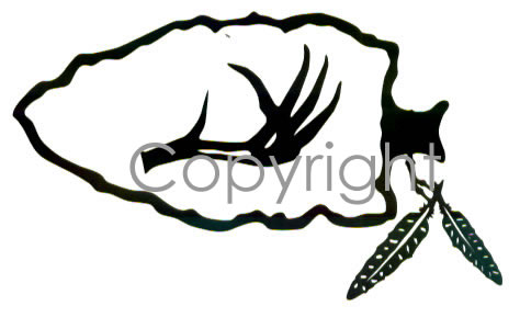 Arrowhead With Feathers Decal