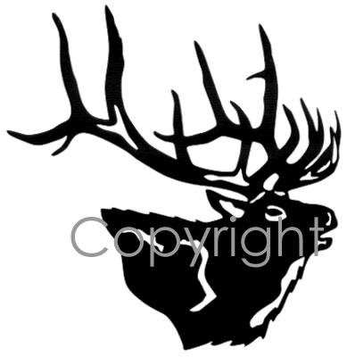 buglin elk head decal