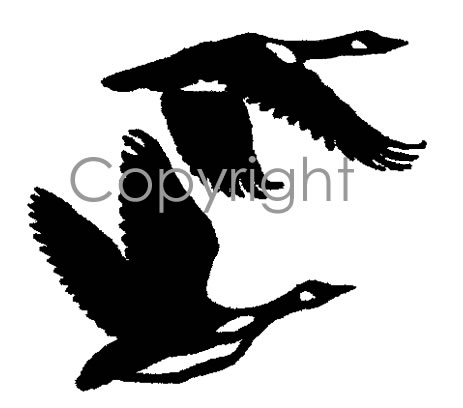 flying geese decal