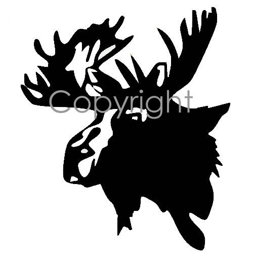 Moose Head Decal