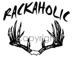 Rackaholic Decal