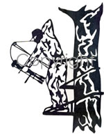 Silhouette Hunting Decals Stickers Bowhunting - Bow hunting decals for trucks