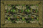 Realtree Hardwoods Green Solid Border Area Rug