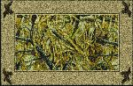 Realtree Wetlands Solid Border Area Rug