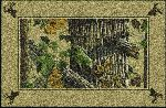 Realtree X-tra Brown Solid Border Area Rug
