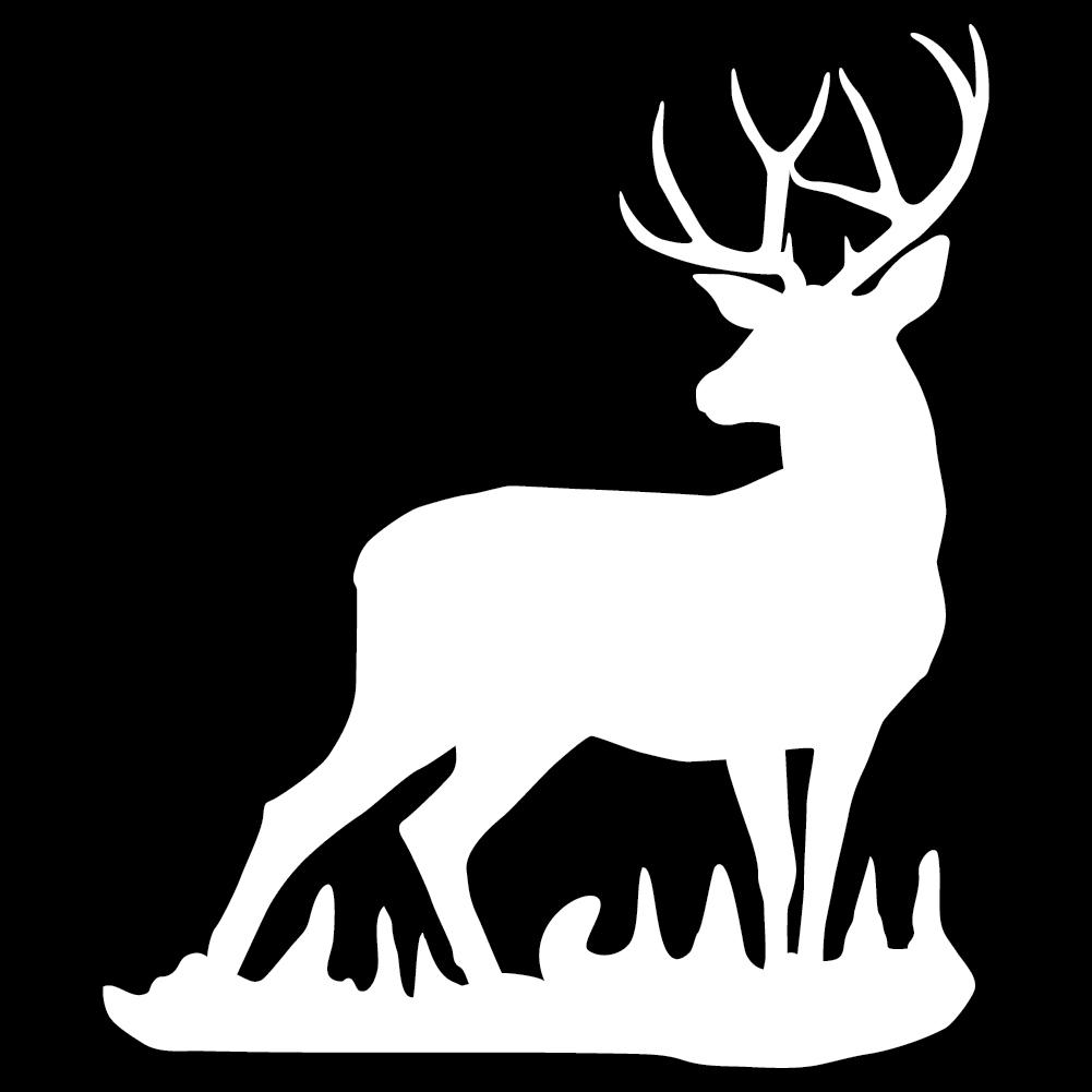 Mule deer buck wall decal for Deer mural decal