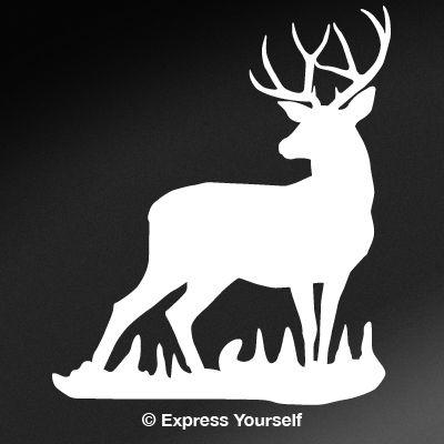 Mule deer buck decal for Deer mural decal
