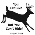 You can Run Whitetail Deer Decal