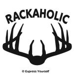 Rackaholic Whitetail Deer Decal