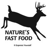Nature's Fast Food 2 Whitetail Deer Decal
