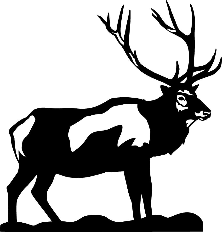 Bull Elk Wall Decal