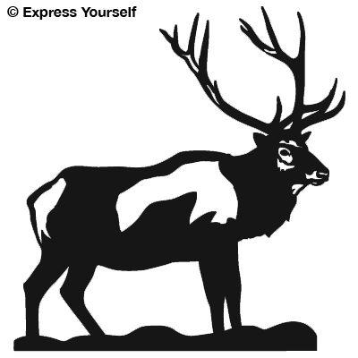 Bull Elk Big Game Decal