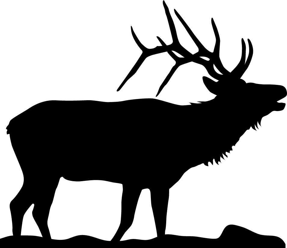 Game Room Man Cave: Bugling Elk Wall Decal