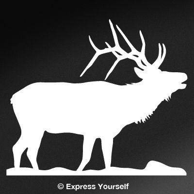 Bugling Elk Big Game Decal