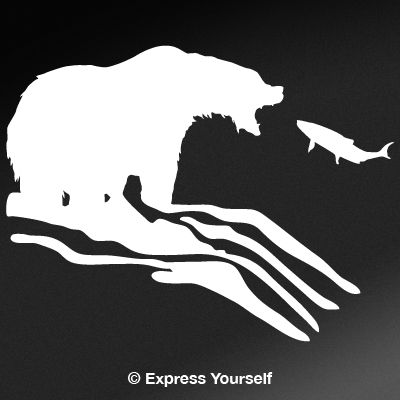 Fishing Grizzly Decal
