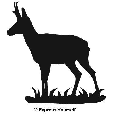 Car Decal Ideas >> Pronghorn Antelope Decal