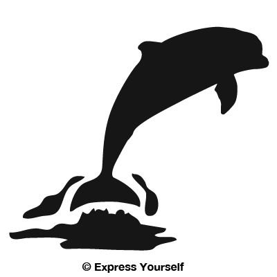 Dolphin jumping saltwater fishing decal for Saltwater fishing decals