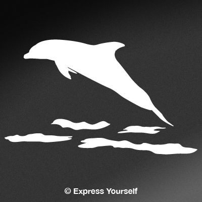Leaping dolphin saltwater fishing decal for Saltwater fishing decals