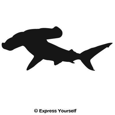 Well-liked Hammerhead Shark Decal PL73