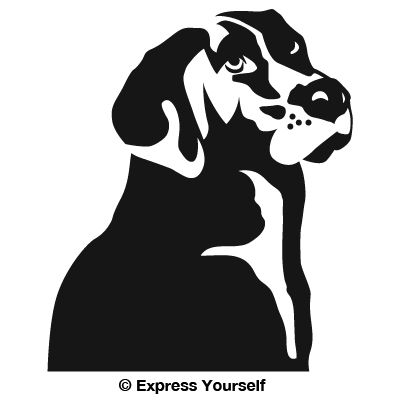 Faithful Lab Hunting Dog Decal - Sporting dog decals
