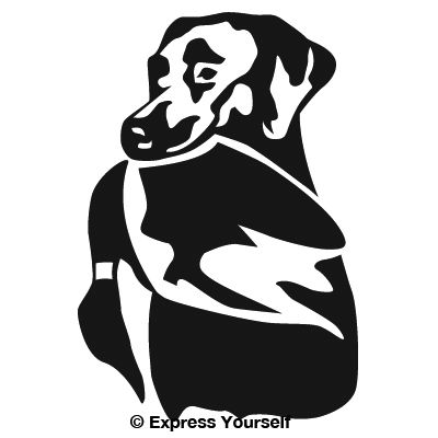Proud Lab Hunting Dog Decal