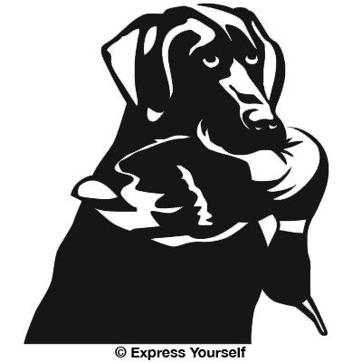 Lucky Lab Hunting Dog Decal - Sporting dog decals