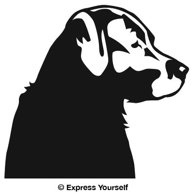 Lab Profile Hunting Dog Decal - Sporting dog decals