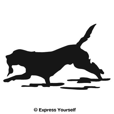 Great Retrieve Lab Hunting Dog Decal - Sporting dog decals