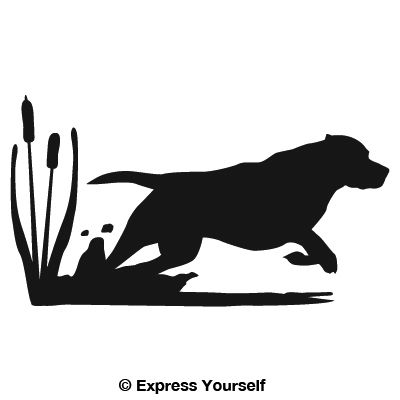 Get It Boy Lab Hunting Dog Decal - Sporting dog decals