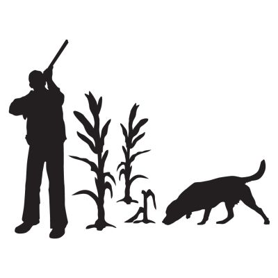 Upland Lab And Hunter Hunting Dog Decal - Sporting dog decals