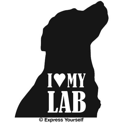 I Love My Lab Hunting Dog Decal